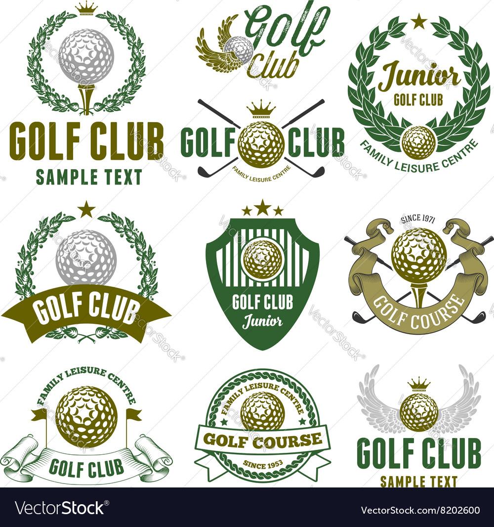 Golf logo set
