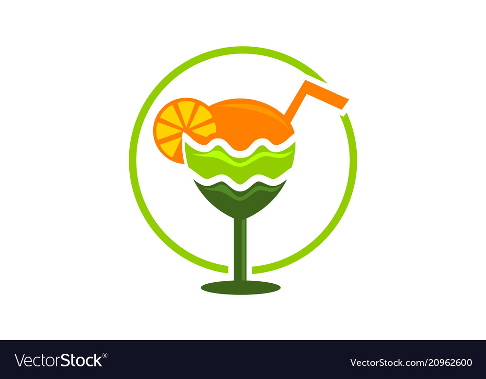 juice logo design template royalty free vector image vectorstock