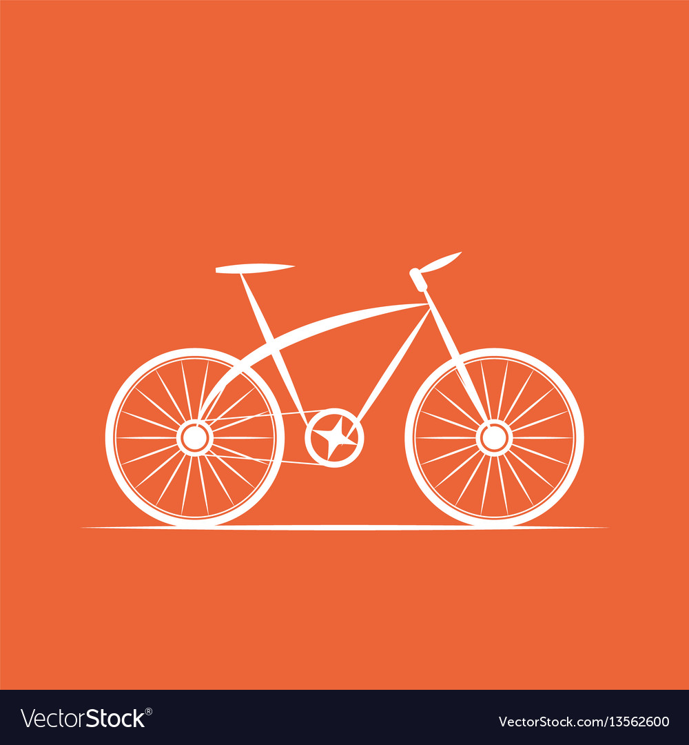 Logo bicycle shop vector image