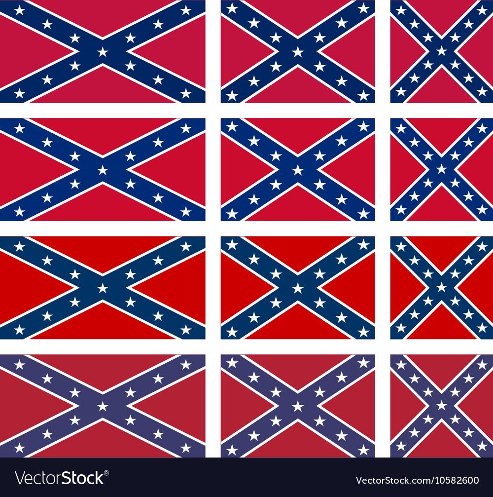 Rebel flag set
