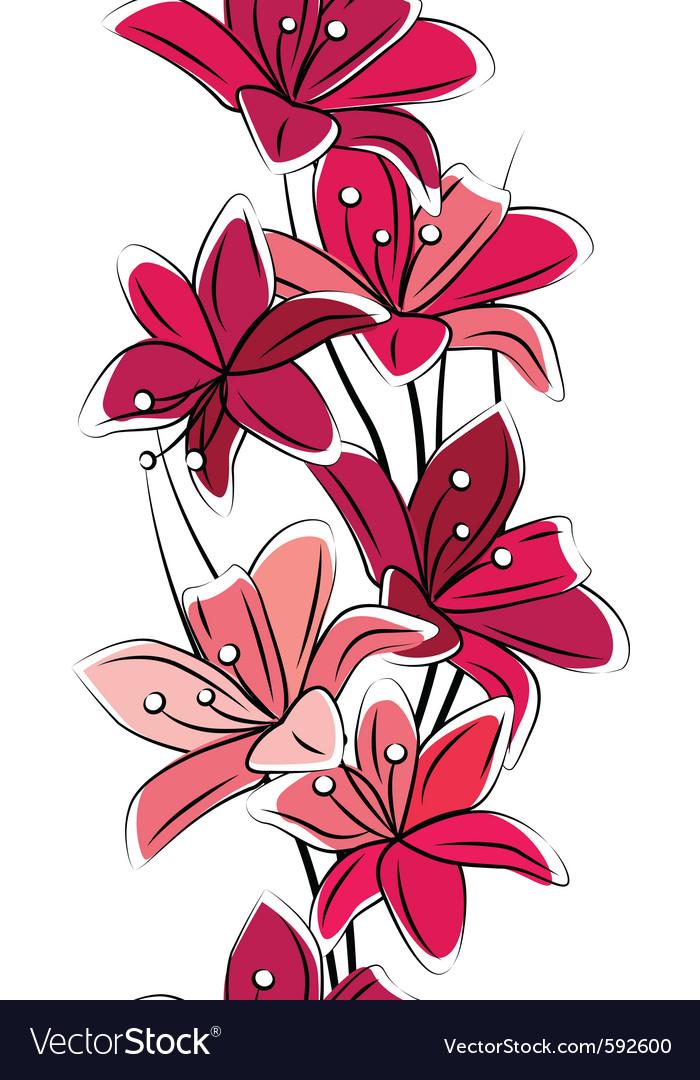 Seamless tulips vector image