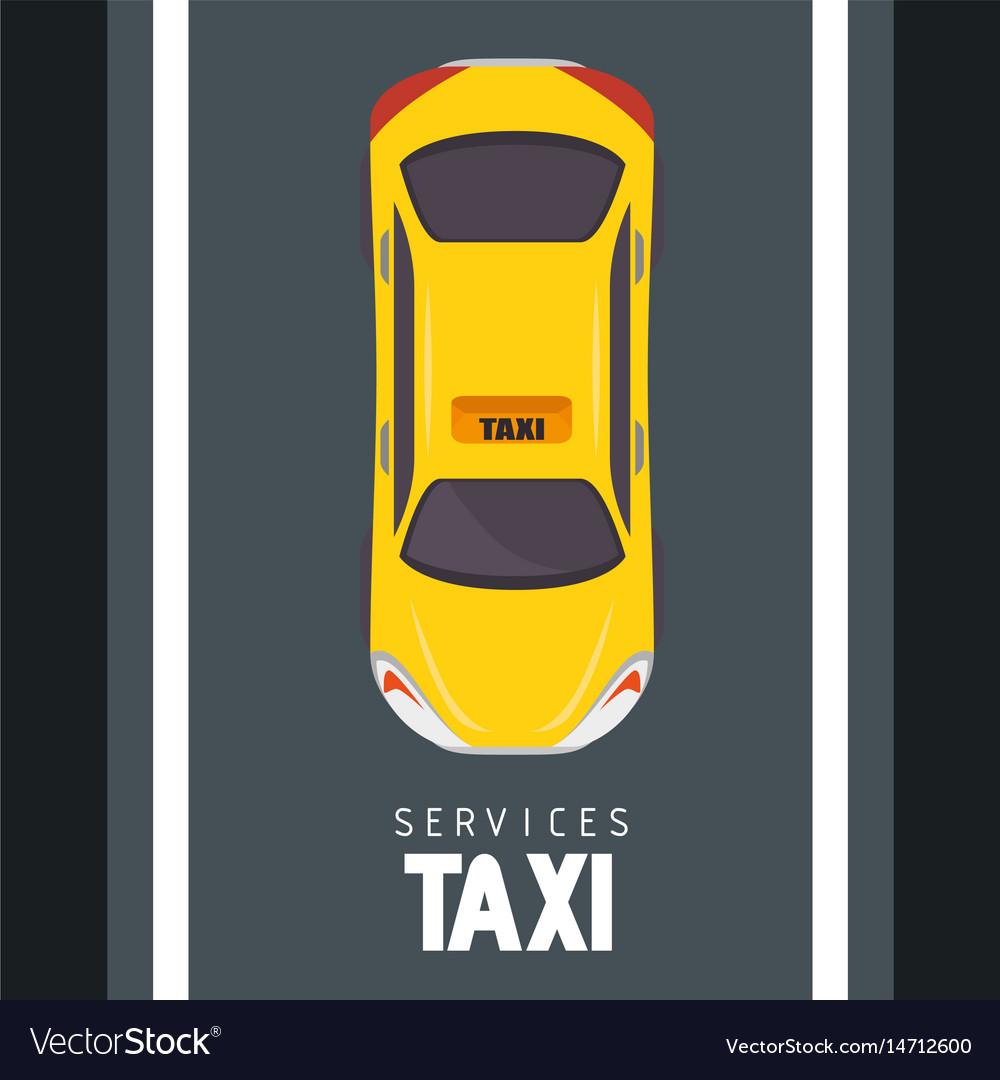 Taxi cab design vector image