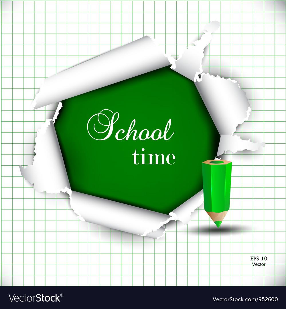 Torn School Paper vector image