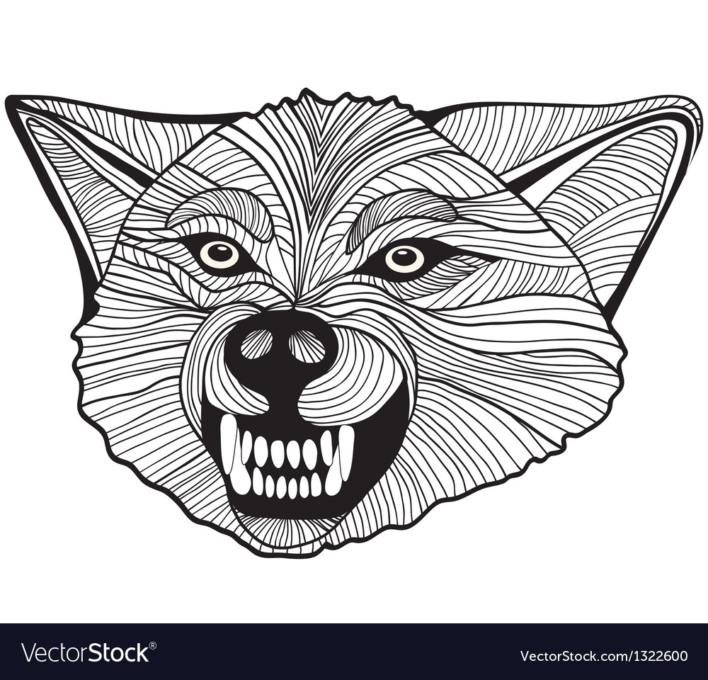 d8b8a4186839d Wolf head animal for t-shirt Sketch tattoo design Vector Image