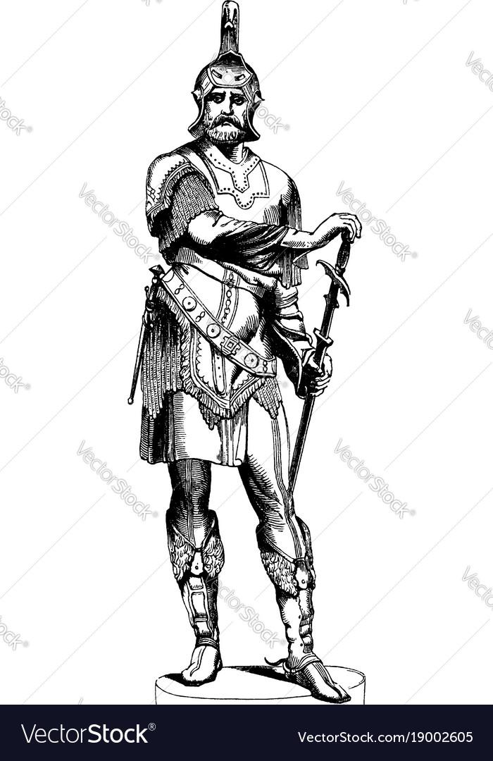 Armor figure was sculpted by austrian sculptor