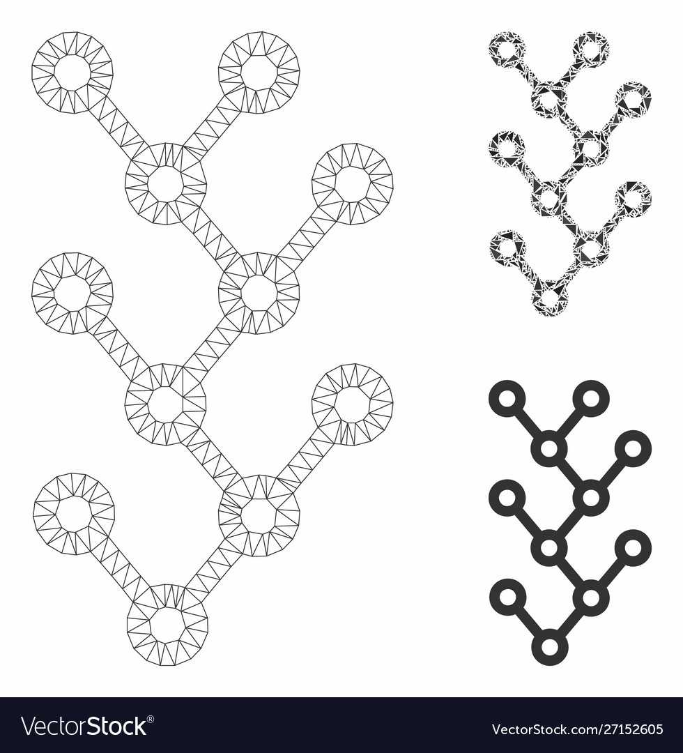 Binary tree mesh carcass model and triangle