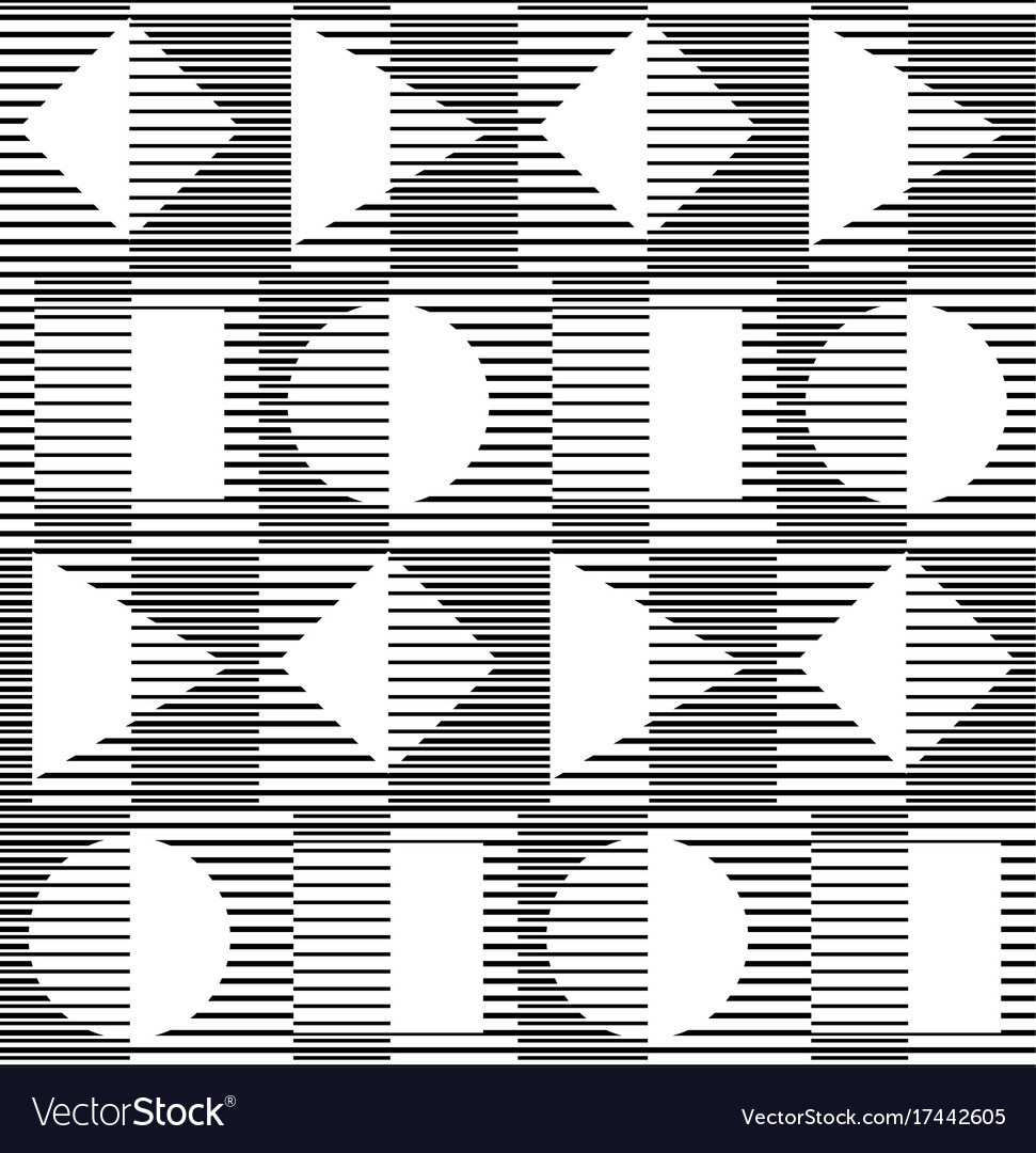 Black and white geometric seamless pattern with