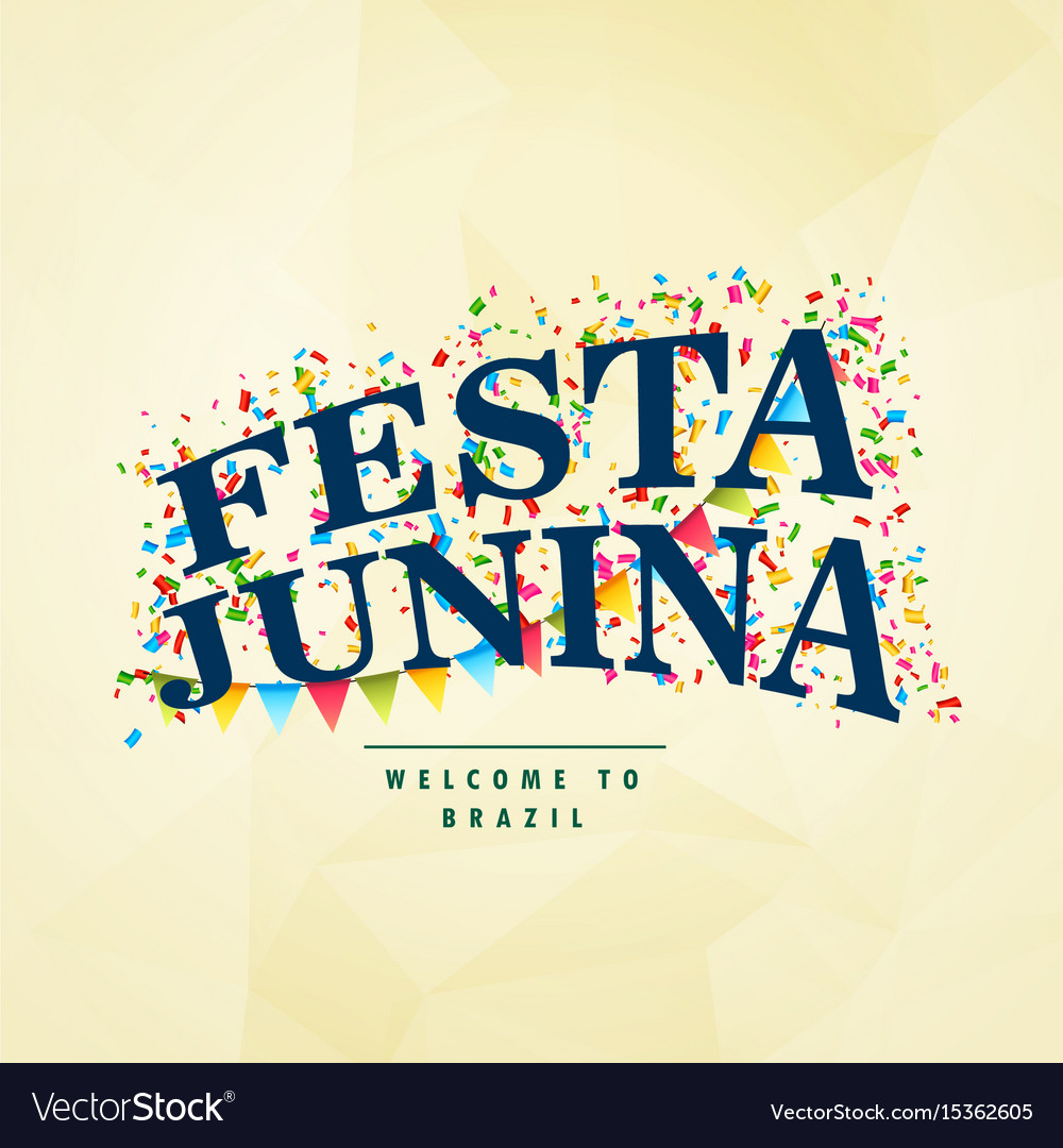 Brazilian holiday festa junina celebration party vector image