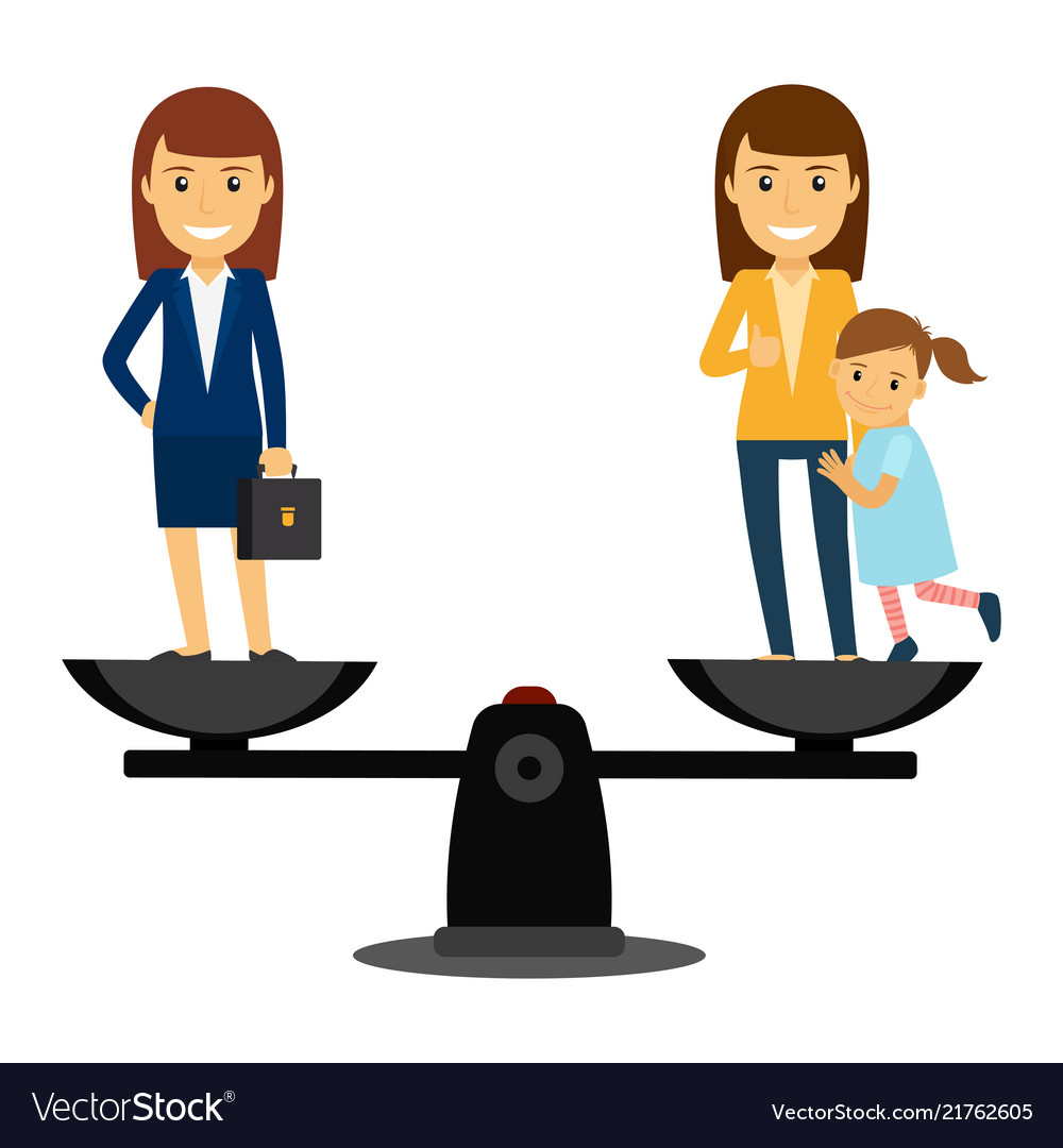 Business woman vs family woman