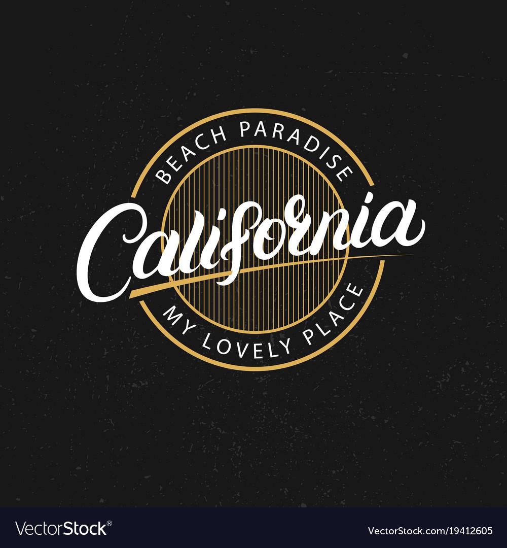 California hand written lettering