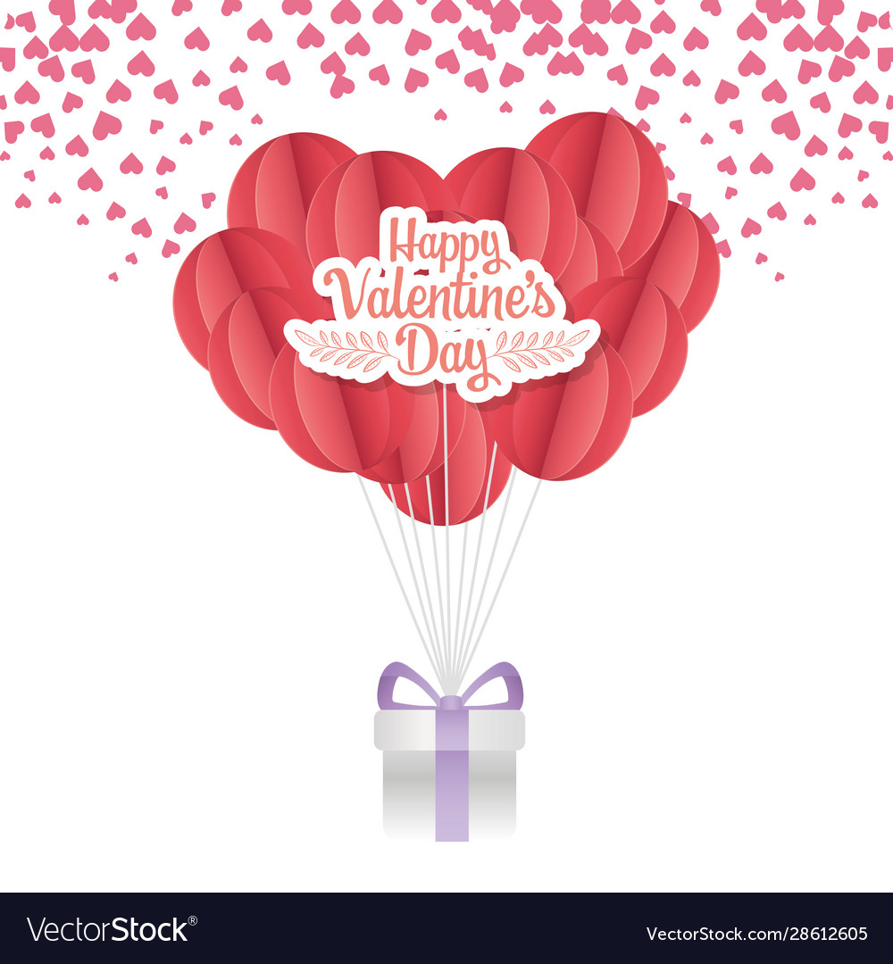 Happy valentines day origami hearts and Royalty Free Vector | 1080x1000