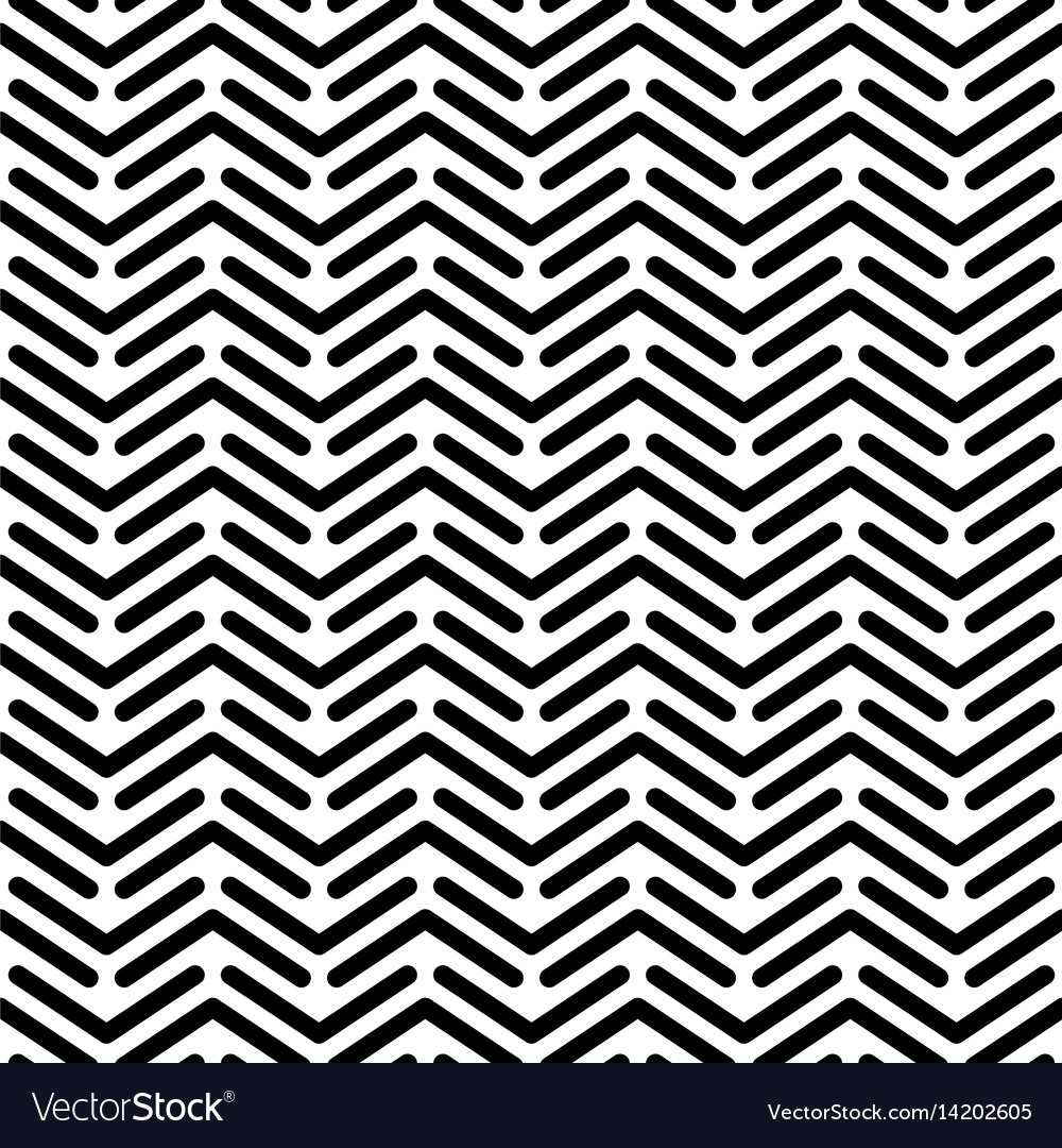 Herringbone monochrome seamless pattern in flat