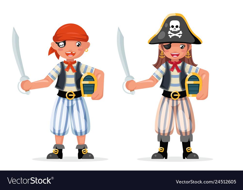 Kids boy girl pirate adventure party sailor