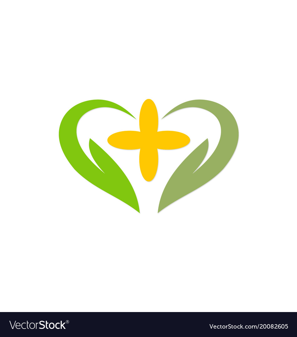 Love abstract green ecology logo