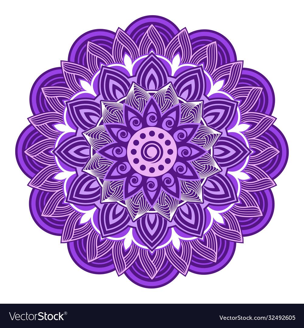 Mandala design with decorative geometric ornament