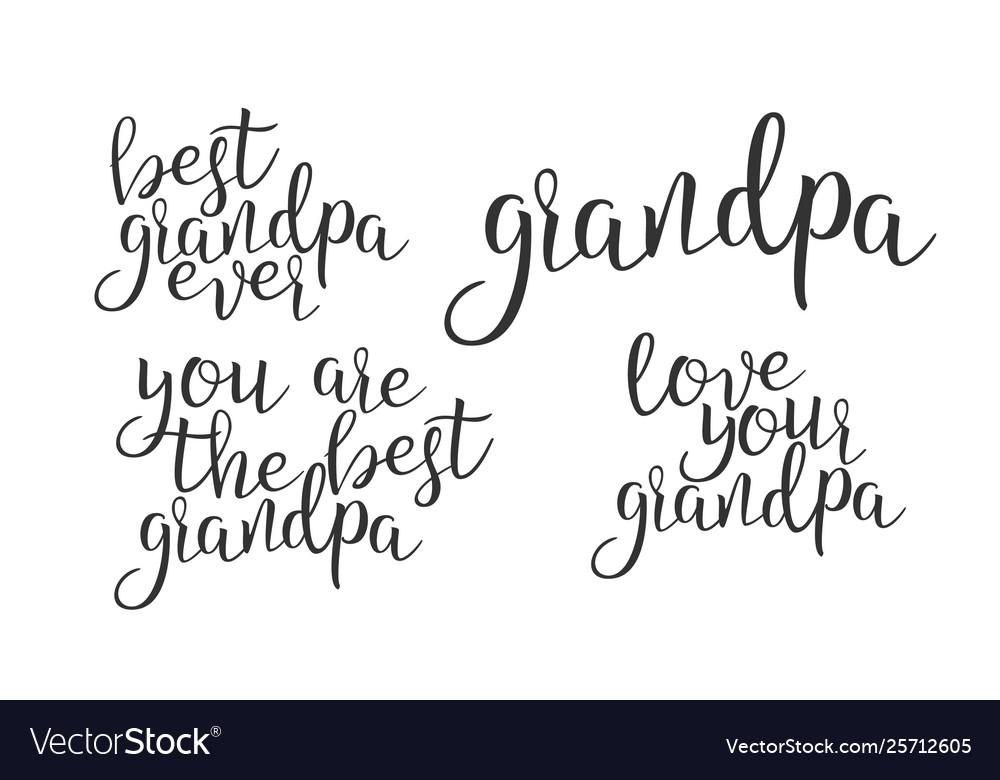 Modern calligraphy ink of word grandpa