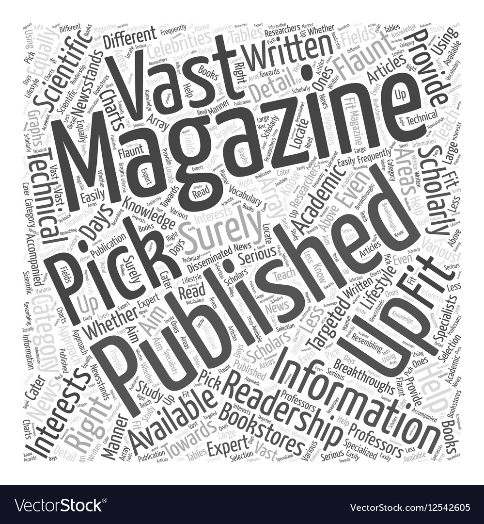 Picking Up the Right Magazine Publishing for You vector image