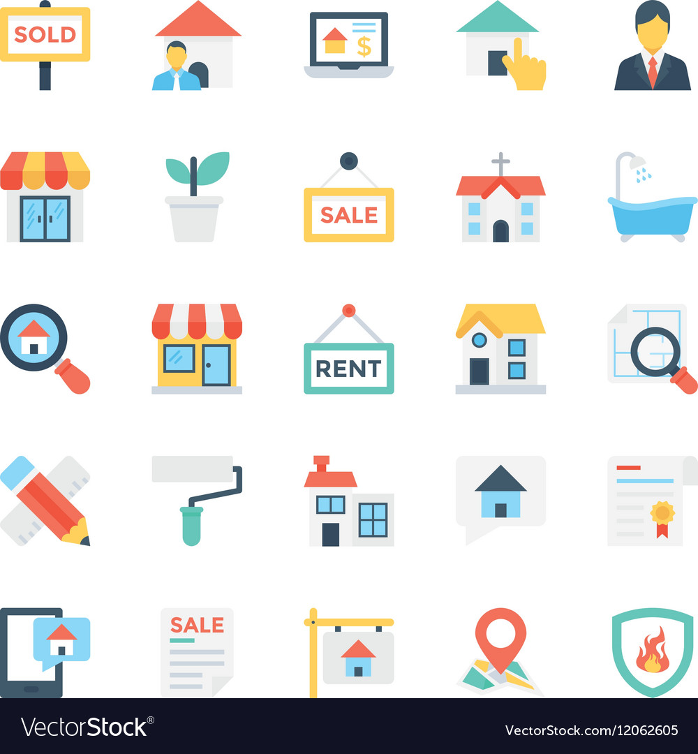 Real Estate Colored Icons 1