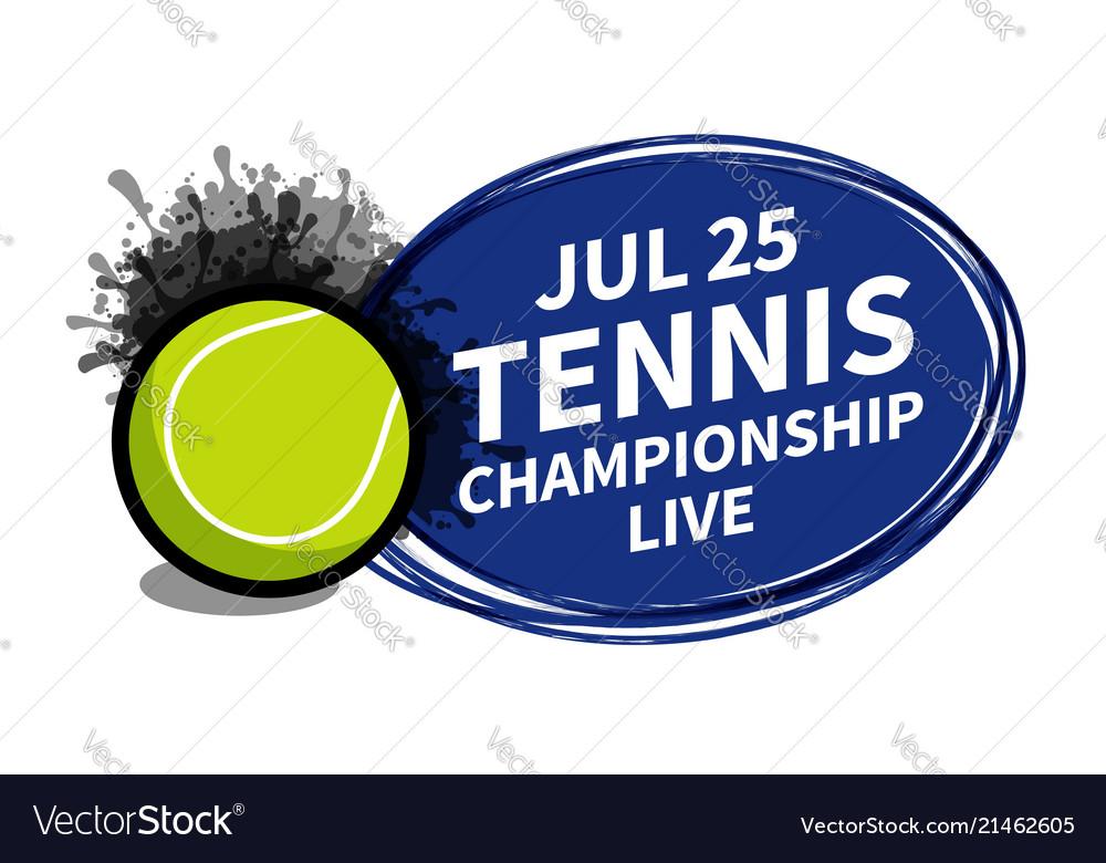 Tennis sport scoreboard spotlight background
