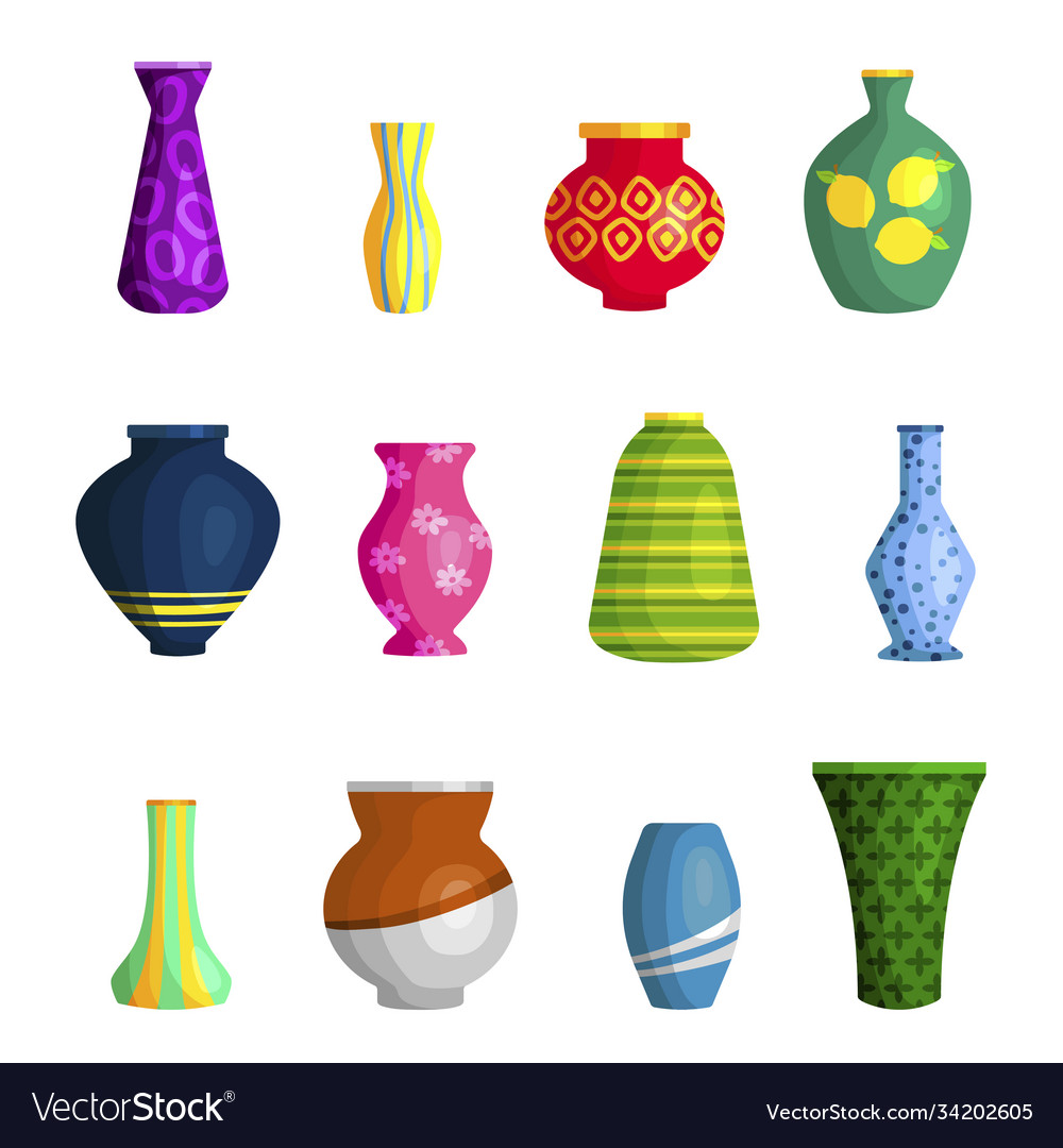 Vases ceramic different shapes and colors