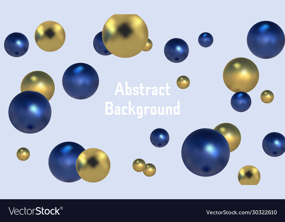 3d spheres background with organic spheres