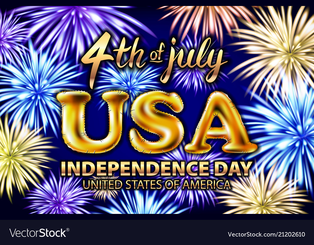 4 th of july usa gold balloons happy independence
