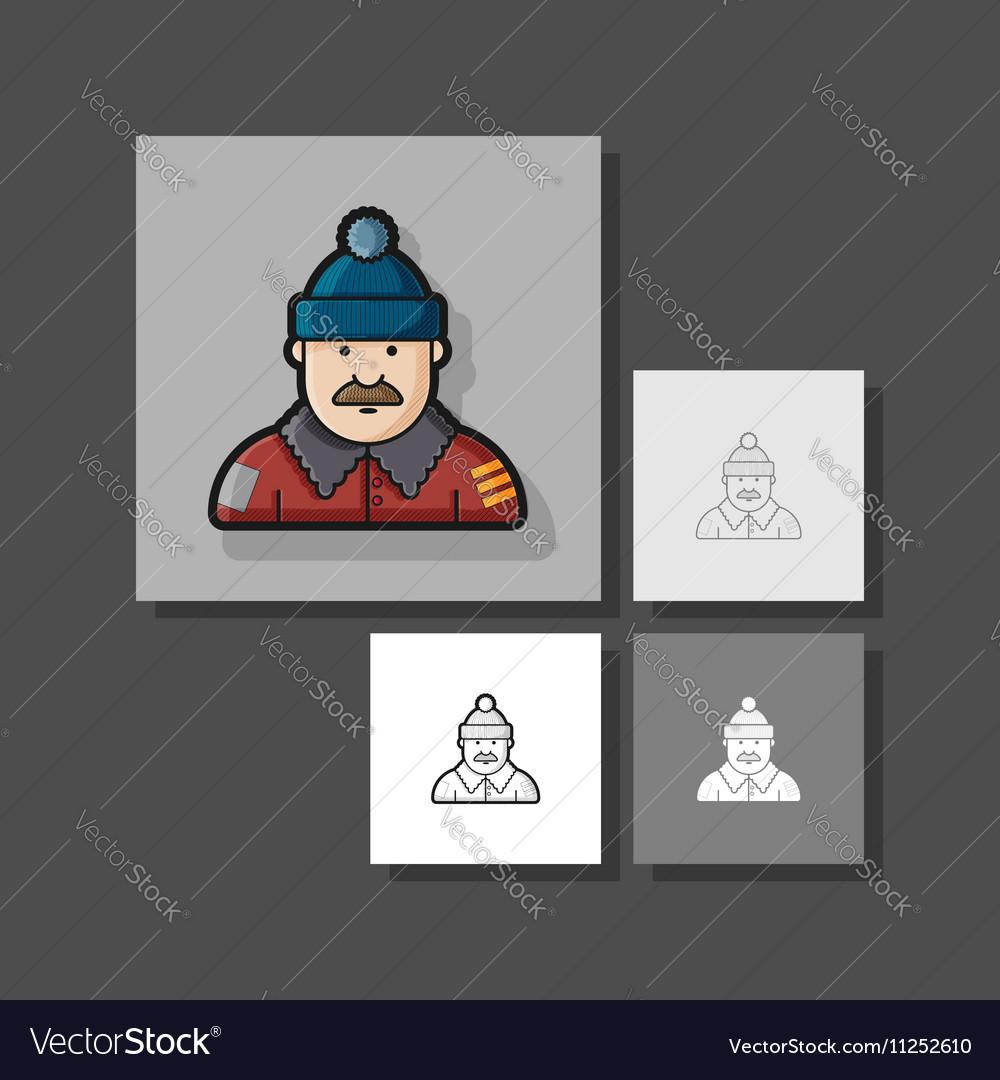 A set of unique characters contour different