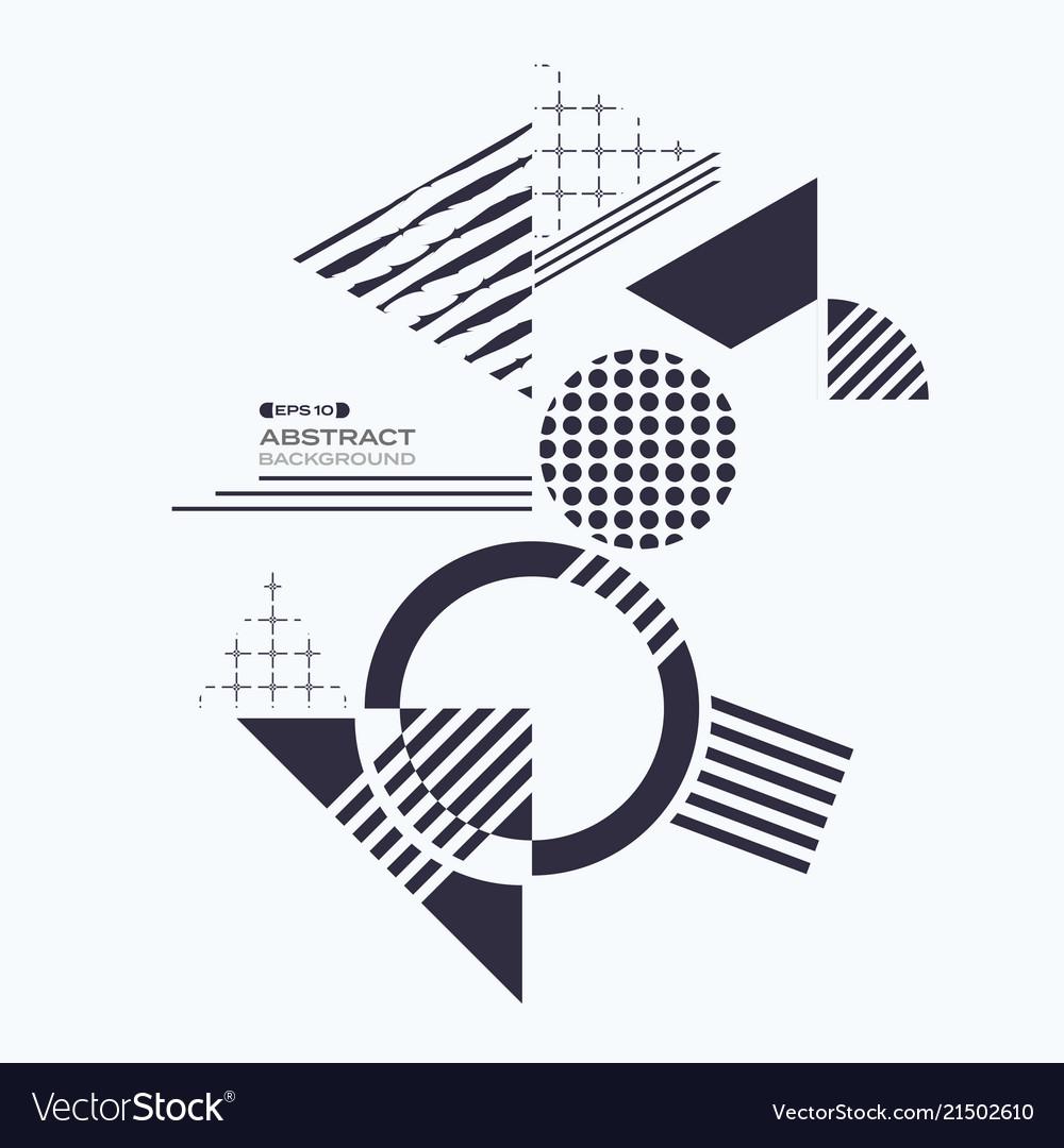 Abstract of blue geometric shape pattern