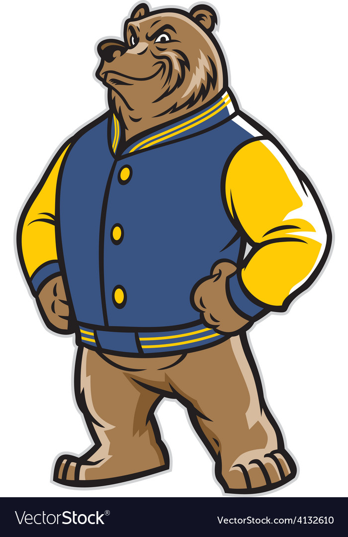 Bear School Mascot Wear Varsity Jacket