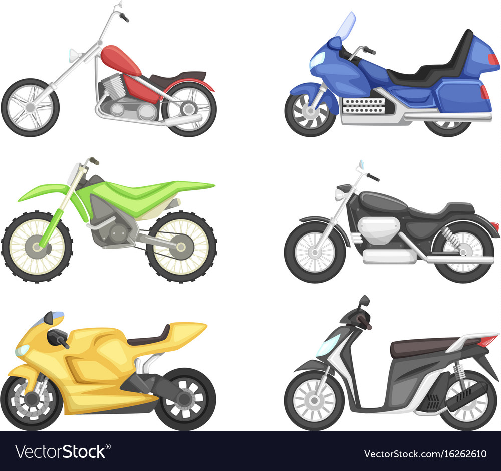 Chopper cruiser sport bike and others types of