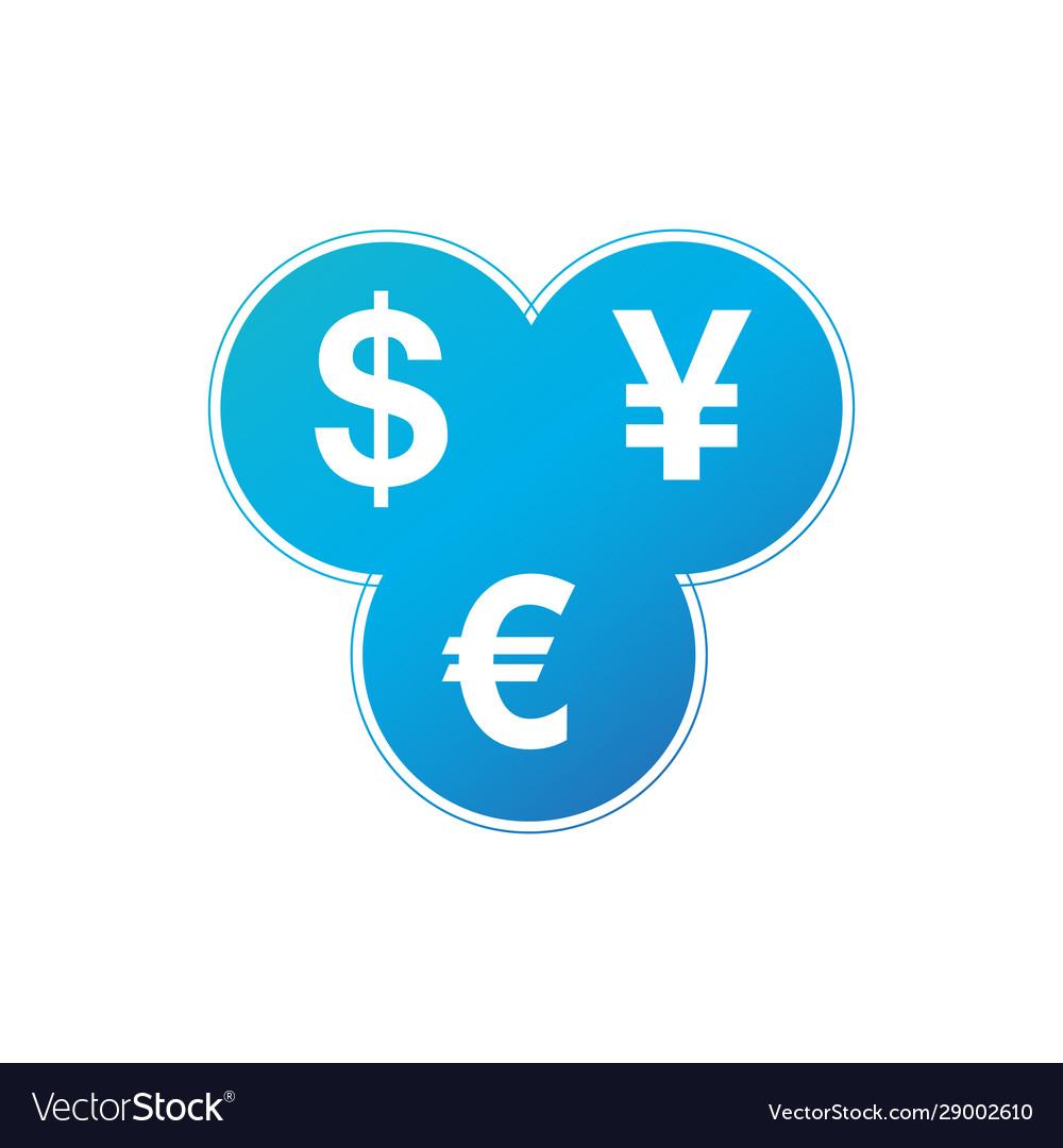 Currency Exchange Dollar Euro Yen Icon