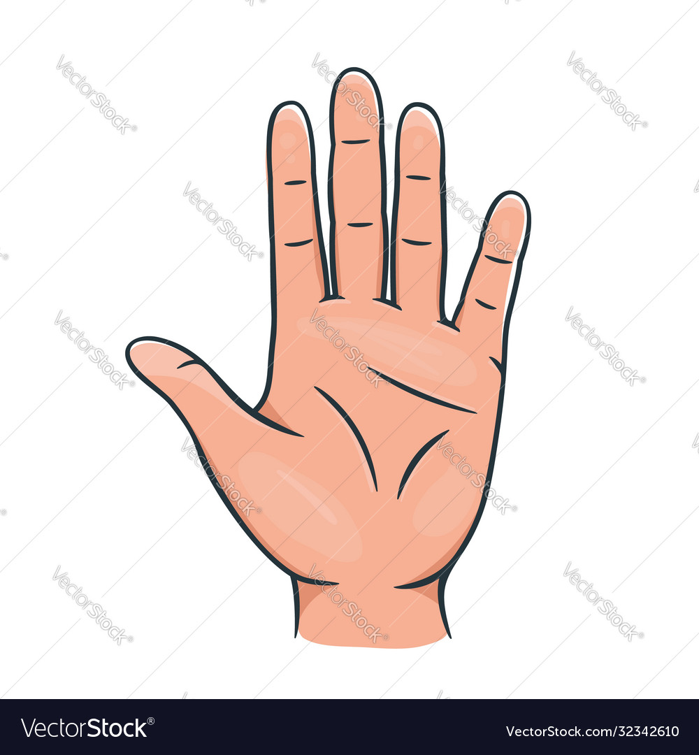 Hands palm icon