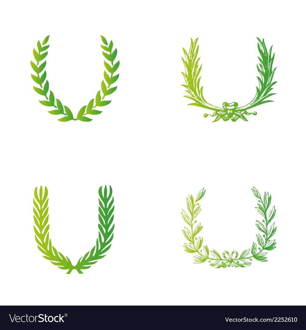 Laurels clipart free vector image