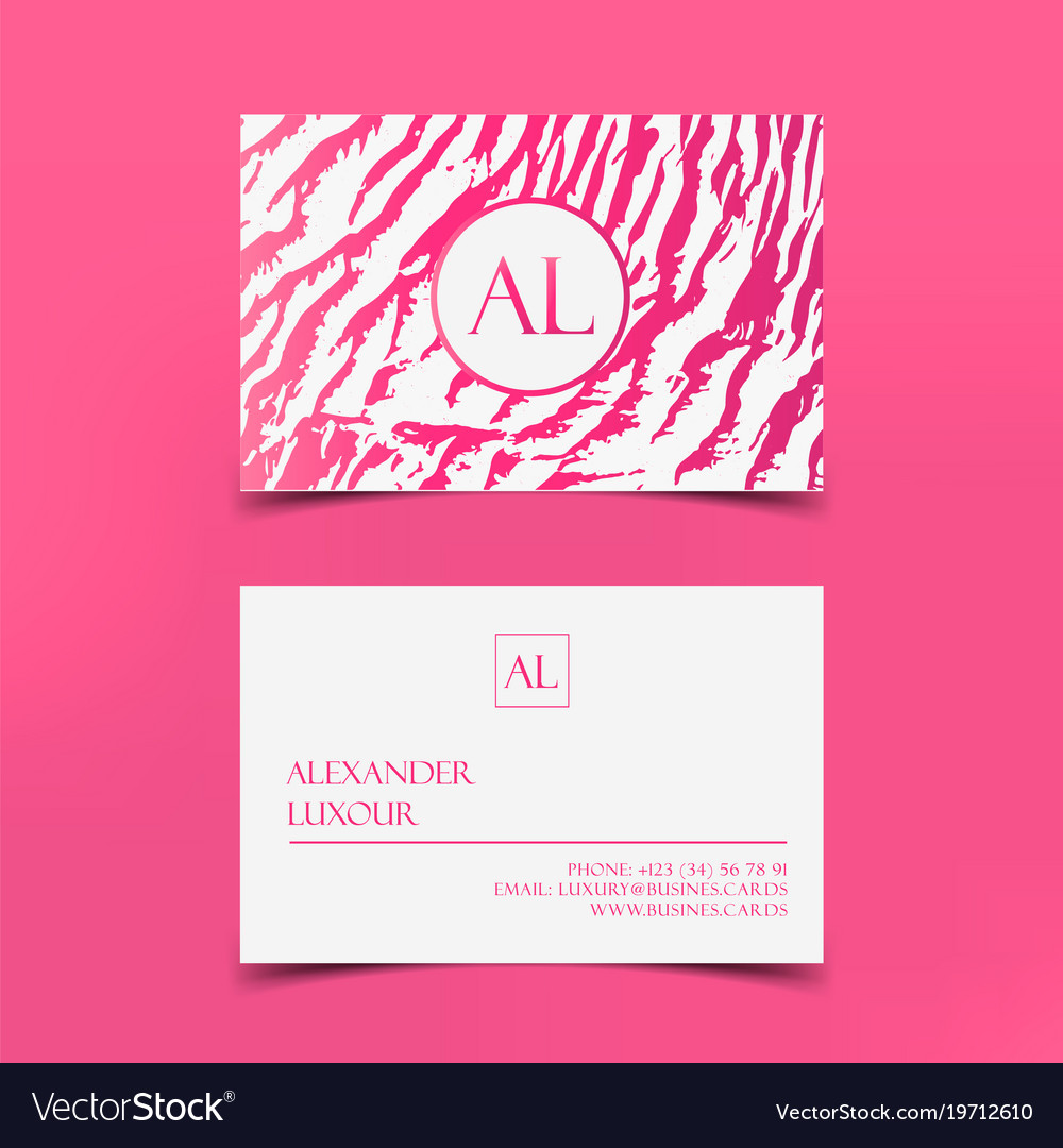 Pink fashion business card template banner vector image flashek Images