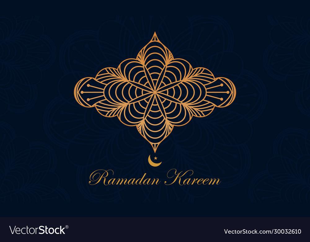 Ramadan kareem and mubarak greeting background