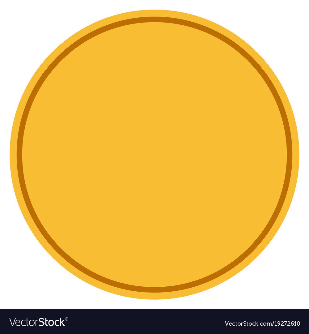 round template gold coin royalty free vector image