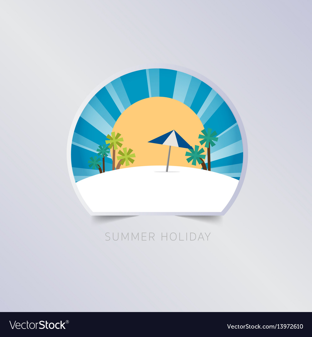 Summer greeting card typography flyer template