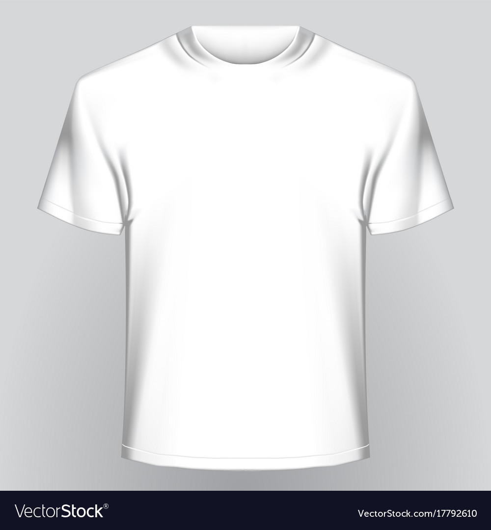 White Empty T Shirt Royalty Free Vector Image Vectorstock