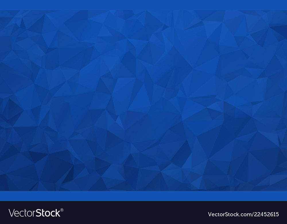 Abstract dark blue polygonal background with