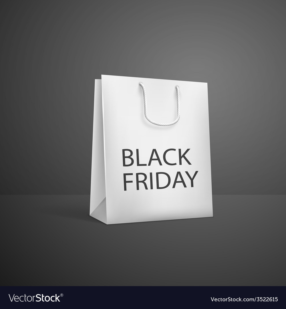 Black Friday Shopping bag sale promotion poster