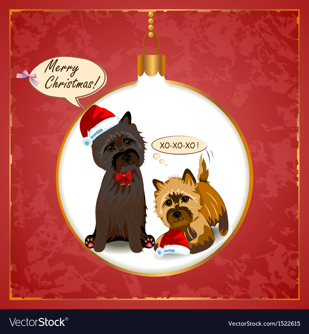 Cairn Christmas Card Royalty Free Vector Image