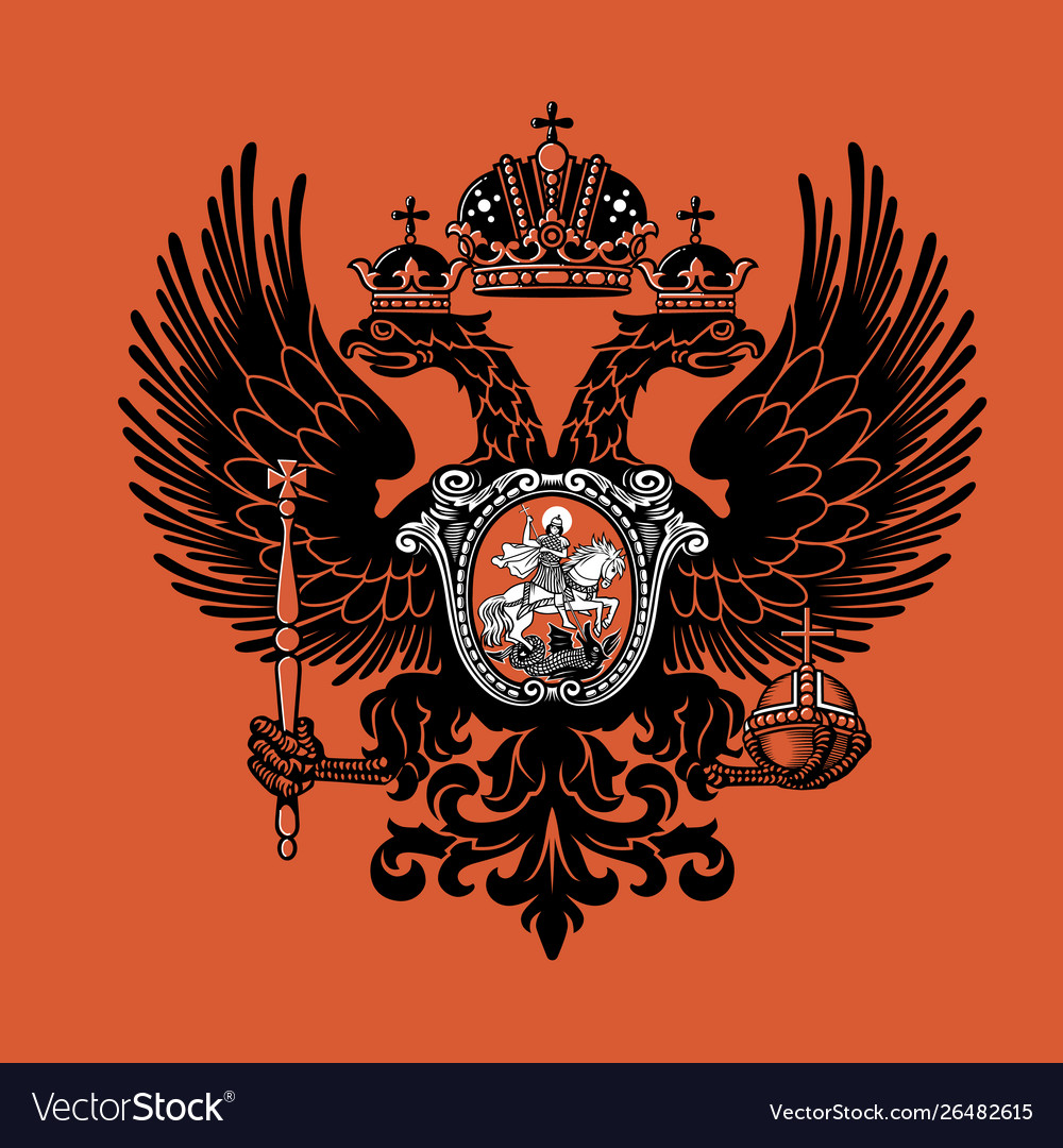 Colorful coat arms russian empire