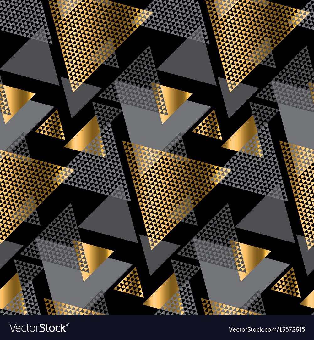 Gold and black color creative repeatable motif