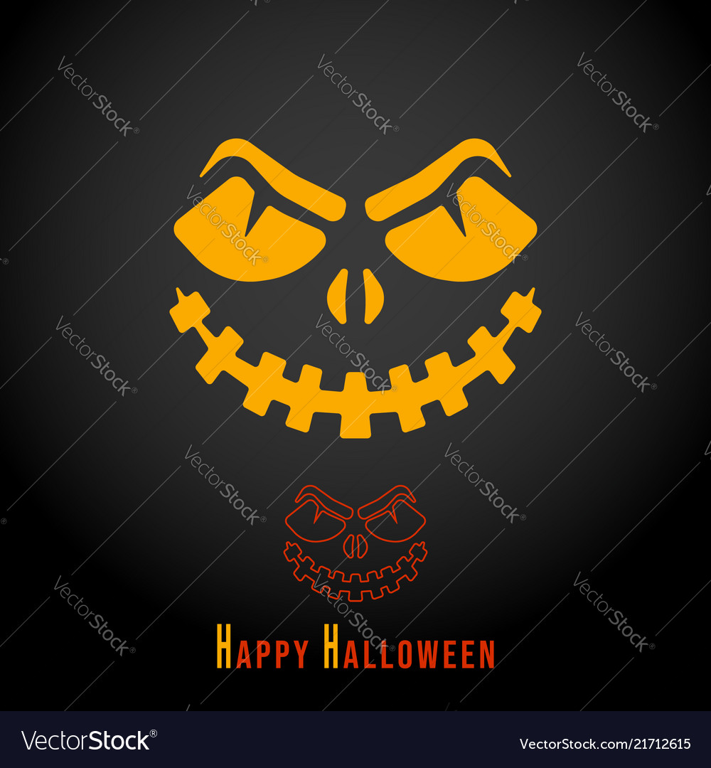 Happy halloween minimal design for printing