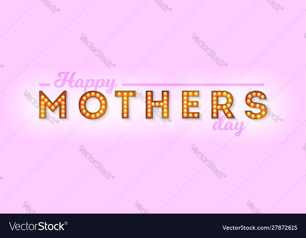 Happy mothers day design vintage lettering