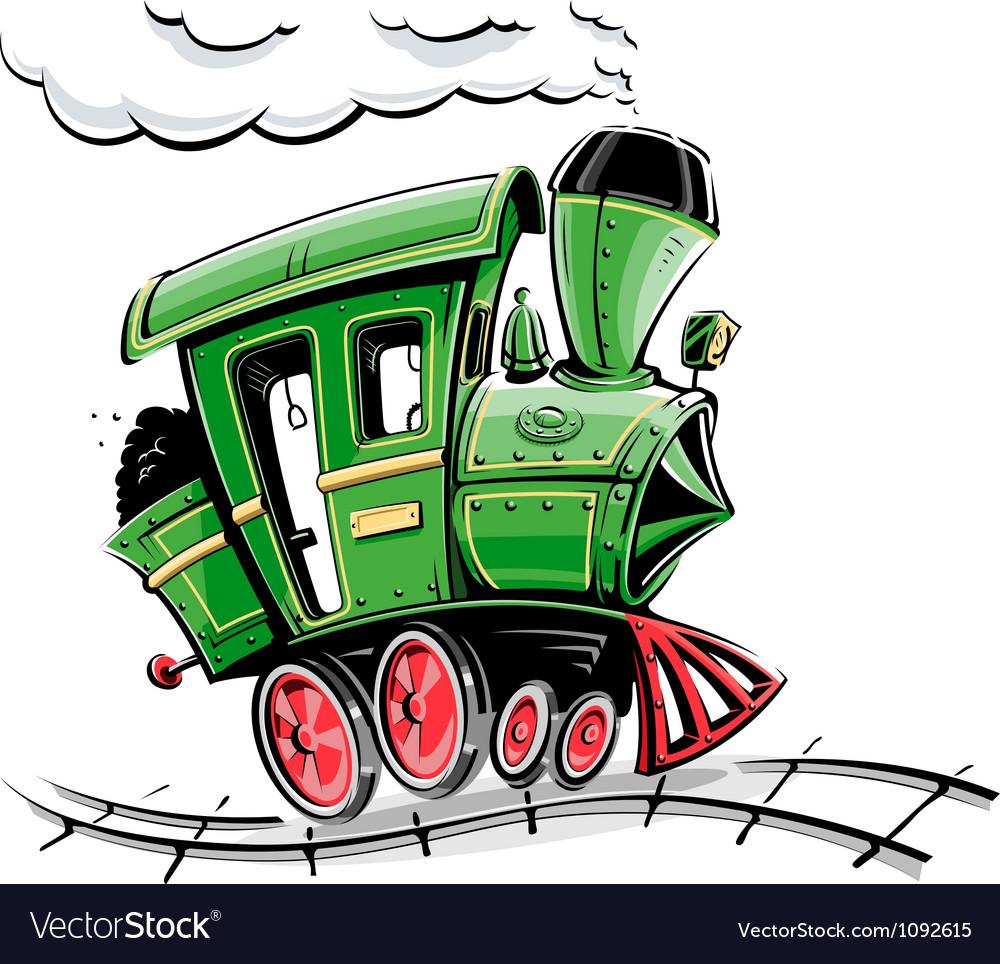 Retro cartoon locomotive