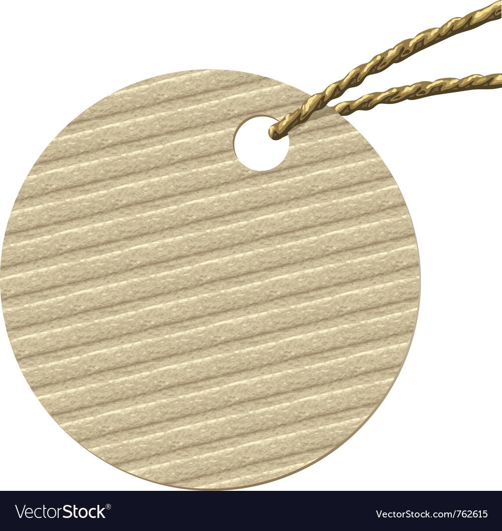Round cardboard tag