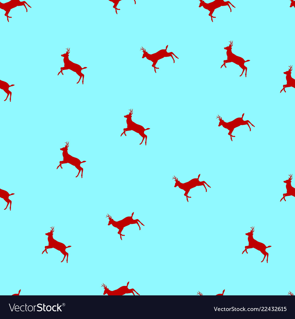 Seamless pattern with christmas deers a