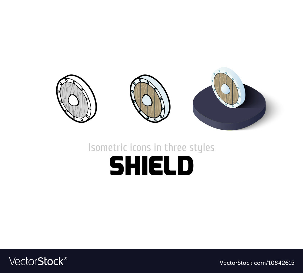 Shield icon in different style