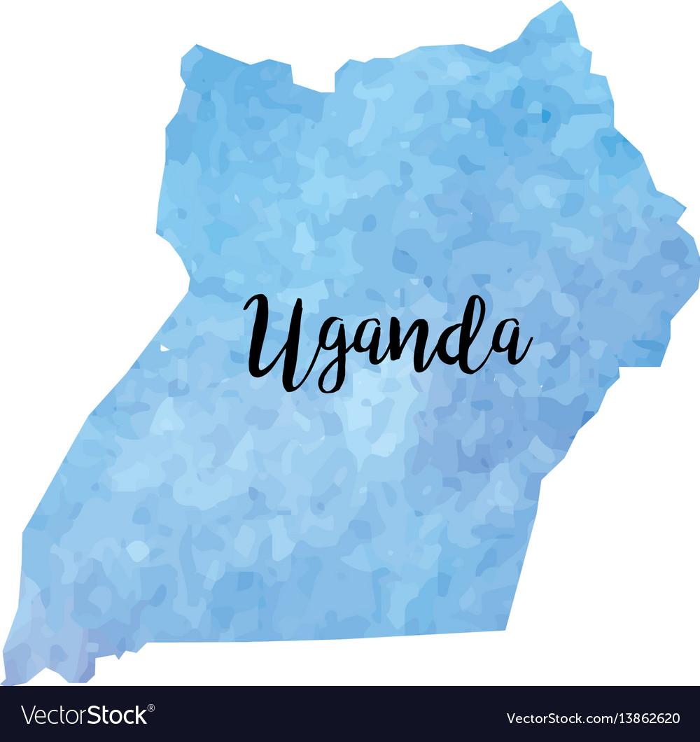 Abstract uganda map vector image